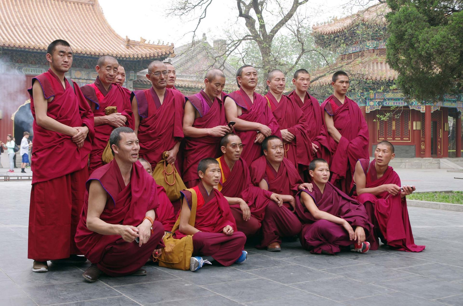 Les moines en visite